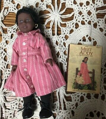 American Girl Doll Mini Addy Classic Soft Body Retired with book & Outfit