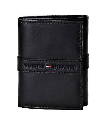 Tommy Hilfiger Men's RFID Blocking Leather Ranger Extra Capacity Trifold Wallet