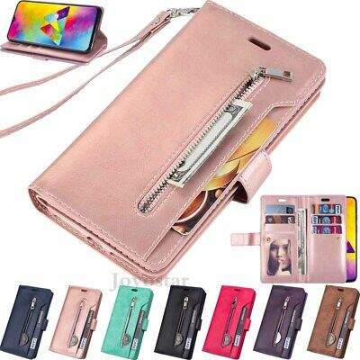 For Samsung Galaxy A10 A20 A30 A50 A70 Wallet Card Slot Flip Leather Case Cover