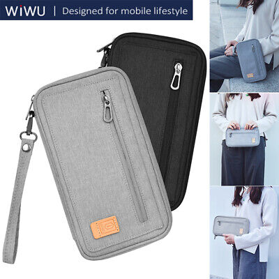 WIWU Travel Wallet Passport Holder Credit Card Case Ticket RFID Organizer Pouch