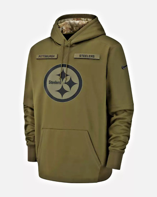 ab3673497de Pittsburgh Steelers Nike NFL Men's Salute To Service STS Therma Hoodie 3XL