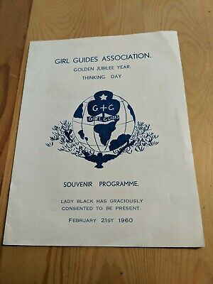 Hong Kong 1960 Girl Guides Association Programme Golden Jubilee Year