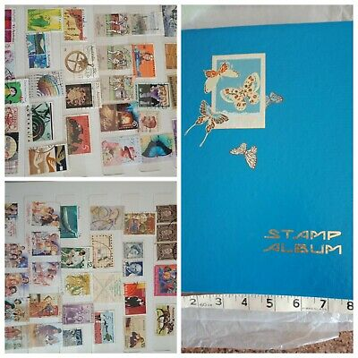 Vintage stamp Album with stamps - very good used condition - at least 35 yrs old
