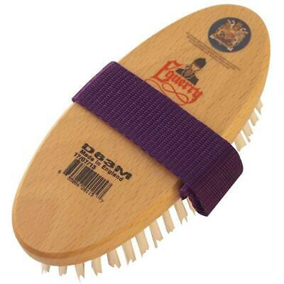 Equerry Versatile Body Brush For Horse & Pony Wood Back Tack Grooming Equestrian