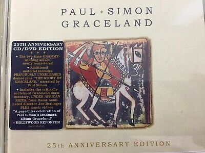 PAUL SIMON - Graceland 25th Anniversary CD + DVD 2012 Legacy Excellent Cond!