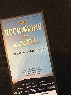 1 x Rock am Ring 2019 - Weekend Festival Ticket