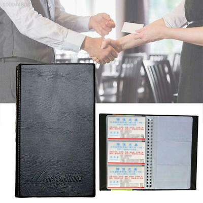 D090 Leather Transparent Business Name ID Card Holder Protector Credit Card Port