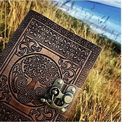 Leather Journal Handmade by DreamKeeper - Celtic Embossed Travel Notebook - Tree