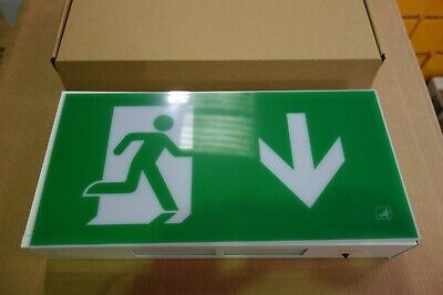 Emergency Exit Sign 8W Maintained Exit Box 3Hr Ip20 Steel Body - Ansell AG8/3M