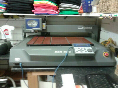 Roland EGX 600 engraver complete with gravoply and backing boards,many extras
