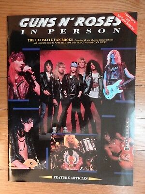 Guns N' Roses In Person Fan Book 1989