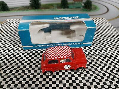 Scalextric Vintage 70s C007 Mini Cooper  in VG cond Boxed