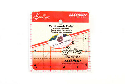 Sew Easy NL4176 Acrylic Quilting Ruler 4½ square Sewing/Patchwork/Papercraft