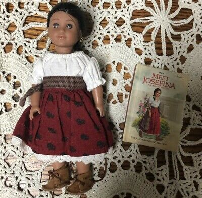 American Girl Josefina Mini Doll Soft Body And With Meet Dress Outfit with Book