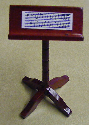 1:12 Scale Wooden Music Stand Tumdee Dolls House Instrument Accessory 384