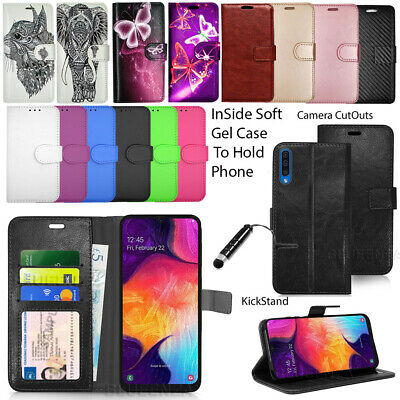 Case For Samsung Galaxy A50 A505F Wallet Leather Flip Book Cover + Screen Guard