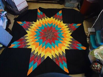 MORNING STAR QUILT TOP;  Made in USA; Not Quilted; Machine Pieced