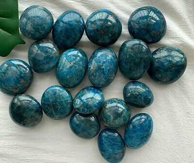 1kg Natural Blue Apatite Palm Polished Mineral Specimen Stone Random Wholesale