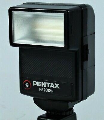 Vintage Pentax AF260SA  Dedicated Flash Gun, VGC. With Box.