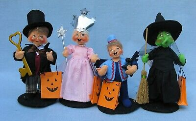 "2019 6"" Annalee Halloween Trick Or Treat Wizard Of Oz Kids - Set Of 4 -  New"