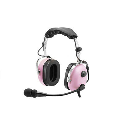 Kids Aviation headset twin GA Plugs - Pink - With Free Headset Bag