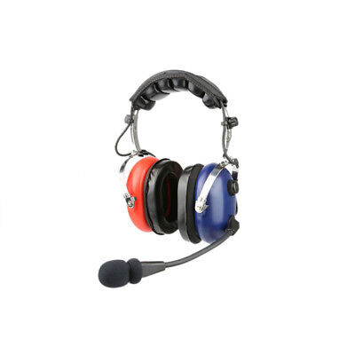 Kids Aviation headset twin GA Plugs - Blue/Red - With Free Headset Bag