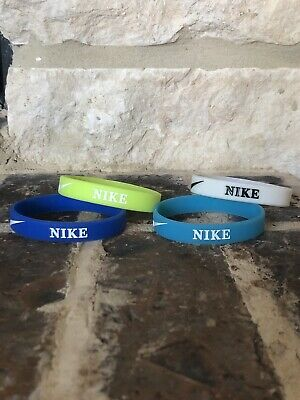 4 Pc Nike Sport Band Silicone Rubber Bracelets Wristband Baller **New**
