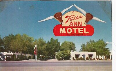 Albuquerque,NM,1950s  Route 66 Motel, Texas Ann Motel, Unused Postcard
