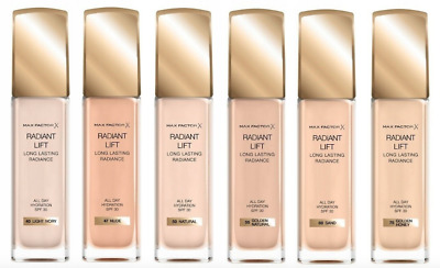 Max Factor Radiant Lift Long Lasting All Day Hydration Spf30 Foundation *Choose*