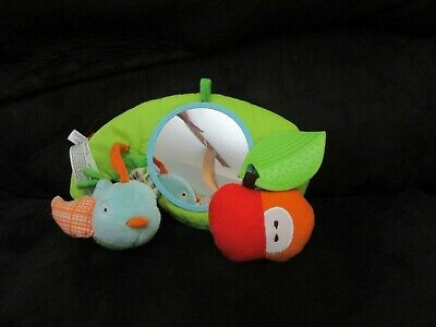Skip Hop Leaf Activity Mirror Infant Apple Rattle Teether Bird Squeeky Baby Crib