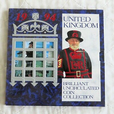 1994 ROYAL MINT 8 COIN BRILLIANT UNCIRCULATED SET WITH £2 - sealed pack