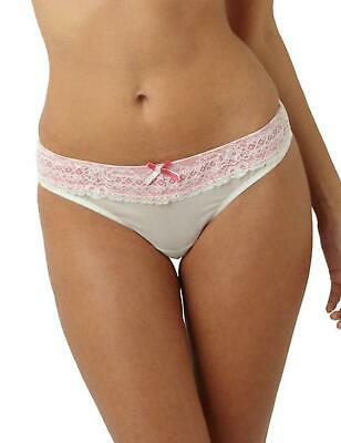 Panache Sophie Thong 5829 Womens Maternity Lingerie Ivory/Pink