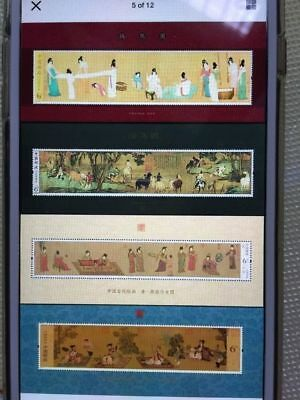 China 2013-2016 year 4 kinds of Ancient paintings sheetlet