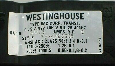 Westinghouse 7524A98G05 Current Transformer