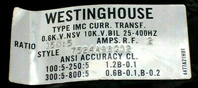Westinghouse 7524A98G02 Current Transformer
