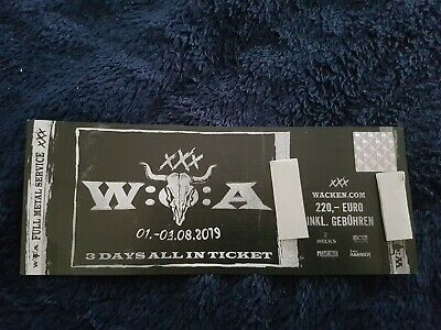 Wacken 2019 Ticket - 3 Days All In - Ausverkauft