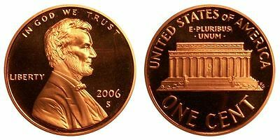 2006 S GEM BU PROOF Lincoln MemoriaL BRILLIANT UNCIRCULATED PENNY US COIN PF