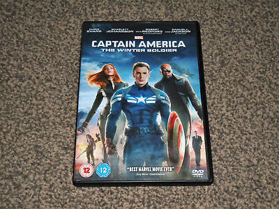 Captain America : The Winter Soldier - 2014 Marvel Dvd In Vgc (Free Uk P&P)