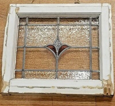 Old Leaded English stained glass window- Architectural Salvage