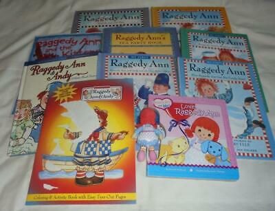 HUGE set of 10 Raggedy Ann & Andy picture + board books
