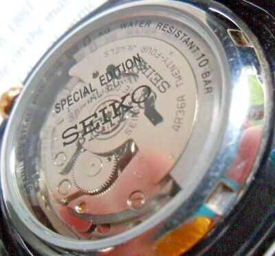 Special Edition Men's Seiko 5 24J Jewel Automatic Watch 4R36-00D0 w/ Band Runs