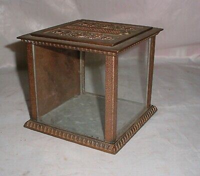 Antique National Cash Register Copper/Brass Locking Deposit Box Fancy Ornate