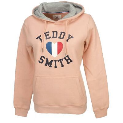 Sweat capuche hooded Teddy smith Seven blood cap sweat Rouge 18137 Neuf