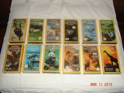National Geographic Videos  VHS Tapes    ( 22 )  Brand New   and 3 Free Ones NEW