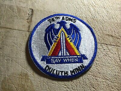 1950s/1960s? US AIR FORCE PATCH-74th ADMS Duluth Say When-ORIGINAL USAF BEAUTY!
