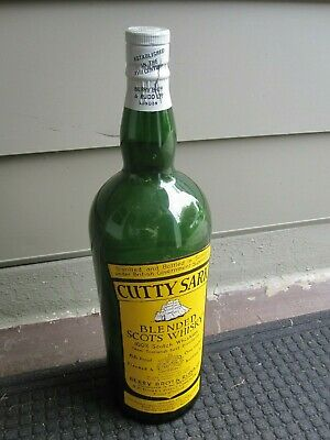 """Vintage One Gallon CUTTY SARK BLENDED SCOTCH WHISKEY DISPLAY BOTTLE 19"""""""