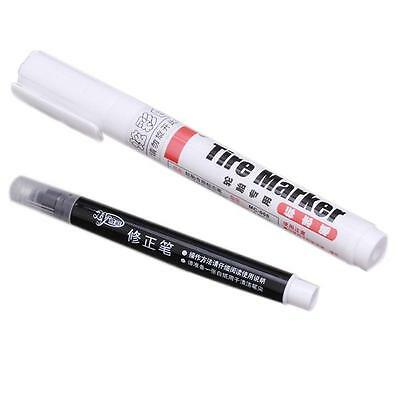 1 x White Waterproof Auto Tyre Tire Tread Rubber Paint Pen Markers Permanent QL
