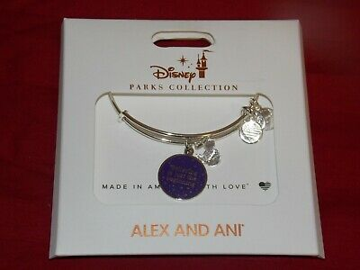 Disney Parks ALEX & ANI bracelet BELIEVING IS JUST THE BEGINNING silver tone NEW