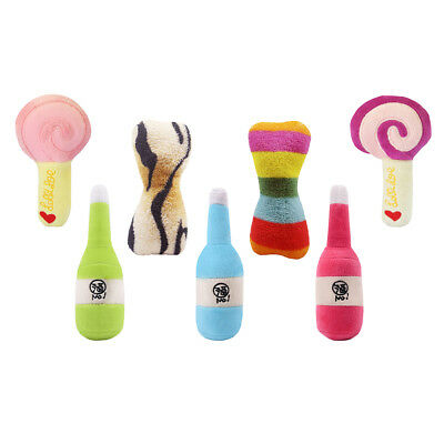 For Dog Cat Toys Play Funny Pet Puppy Chew Squeaker Squeaky Plush Sound Cute Toy