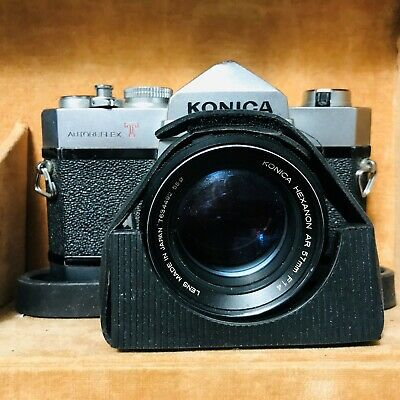 Konica Autoreflex T 35mm SLR Camera, Case & Accessories